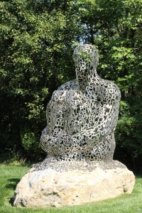 Sculpture of a thinking man (not sure what the actual name of it is)