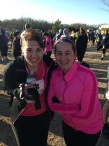 Freezing pre-race photo!